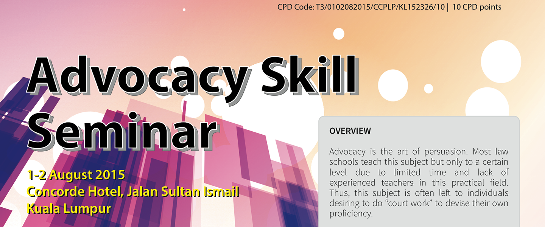 Advocacy Skills Seminar